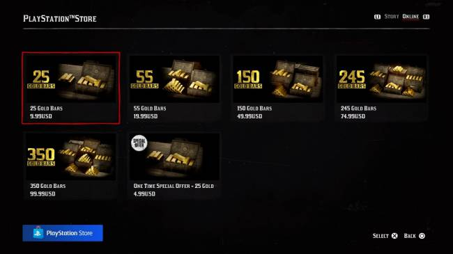 """Red Dead Online Microtransactions Now Live, """"Special"""" One-Time Offer & Gold Bar Prices Listed"""