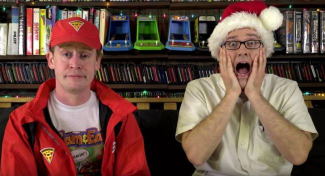 Macaulay Culkin And Angry Video Game Nerd Diss Home Alone Games Together