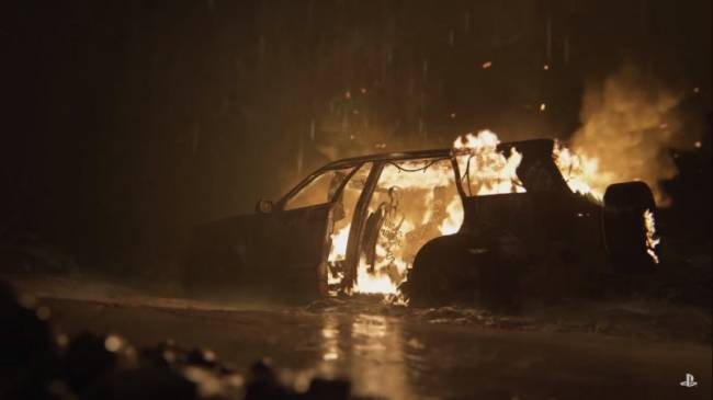 Get In The Holiday Spirit With A Burning Car From The Last Of Us Part II