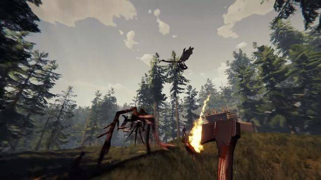 The Forest's free update adds hang gliders, crossbows and more monsters