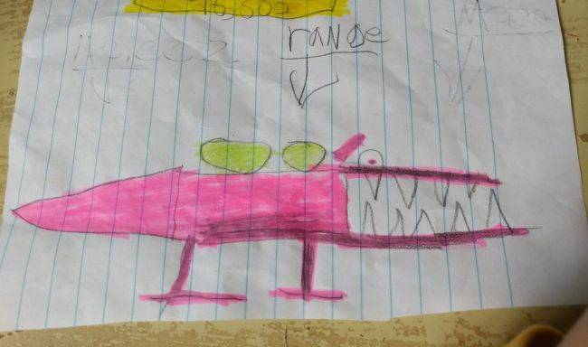 This mysterious concept art for a Dusk boss monster was drawn by a sixth-grader