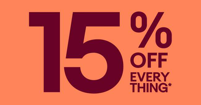 Almost everything on eBay is 15% off for the next few hours