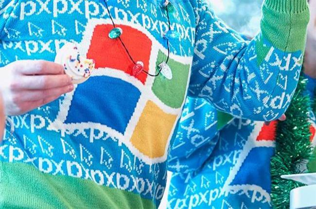 An ugly Windows XP sweater is all I want for Christmas