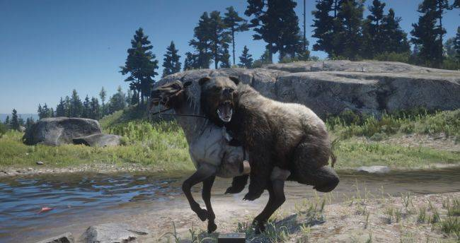 This Red Dead Redemption 2 mod lets bears ride horses
