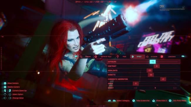 Here's an early look at Cyberpunk 2077's photo mode in action