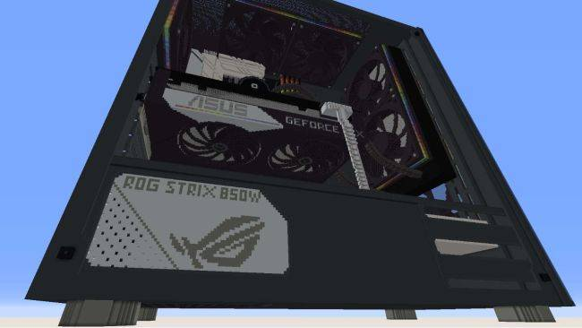 Someone spent 45 hours building an RTX 3070 gaming PC in Minecraft