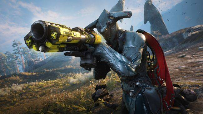Warframe gets Unreal Tournament weapon skins to celebrate its launch on the Epic Games Store