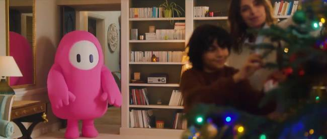 Fall Guys made a full live-action Christmas ad to promote a free in-game costume