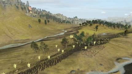 Watch An Army Of Greenskins Take On Bretonnian Forces