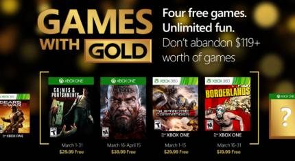 Original Borderlands Included in Xbox Live Games with Gold for March