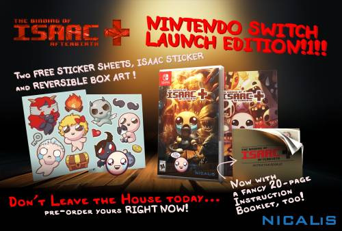 The Binding of Isaac: Afterbirth+ Delayed on Nintendo Switch