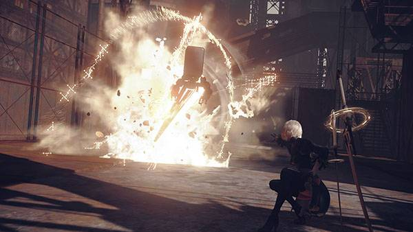 NieR: Automata 'Auto Chips' feature gameplay