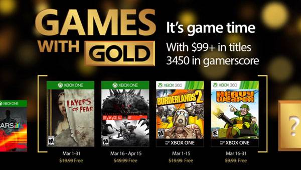Xbox Live Gold free games for March 2017 announced