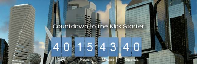 Ship of Heroes posts a Kickstarter countdown on its main page