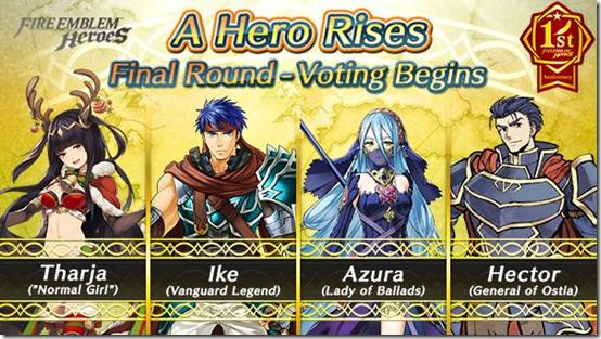 Fire Emblem Heroes' A Hero Rises Voting Event Reaches Final Round