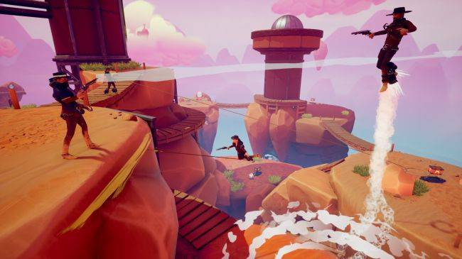 In FPS brawler Sky Noon, the west is wild thanks to grappling hooks and jetpacks