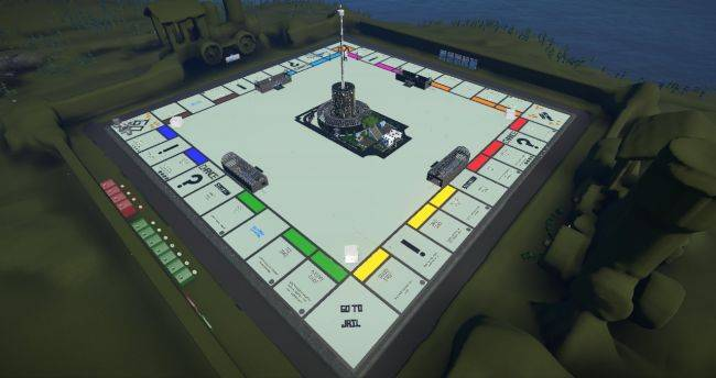 This Planet Coaster map is both a working theme park and a playable Monopoly game