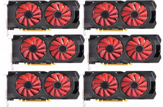 Vendors on Amazon now selling 6-packs of GPUs for cryptocurrency mining
