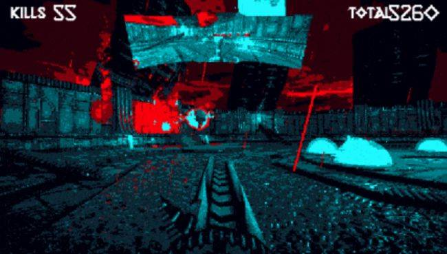 Hellscreen, the retro shooter with a rear-view mirror, is now on Kickstarter