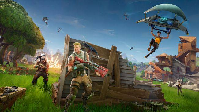 Watch this Fortnite player quick scope from an airborne rocket to victory