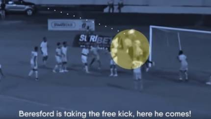 Football Manager helped a real life goalkeeper score for his country - on his debut