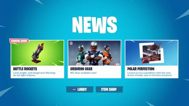 Fortnite's 7.30 Content Update Coming Tomorrow, Bottle Rockets Teased