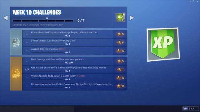 Fortnite Challenge Guide: