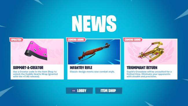 Fortnite's 7.40 Update Adding Infantry Rifle Gun Along With Overtime Challenges And Balance Changes