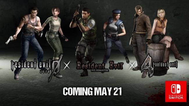 Three Resident Evil Games Headed To Nintendo Switch, Release Dates Confirmed