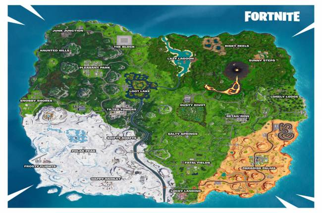 Fortnite Season 8 Map Changes: Sunny Steps, Lazy Lagoon, Volcanic Vents, And More