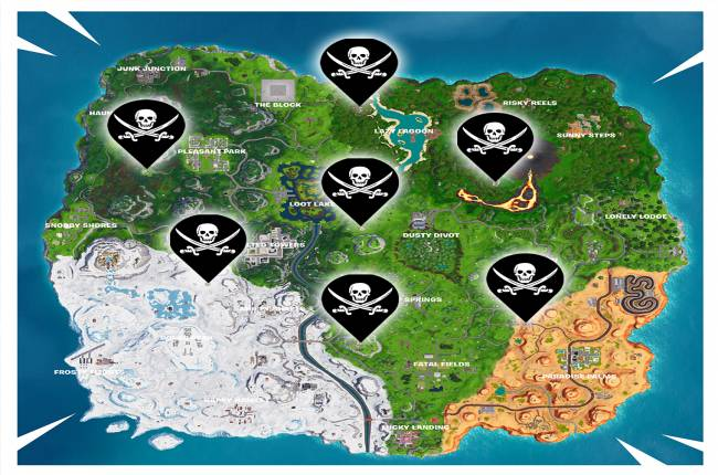 Fortnite Challenge Guide: Pirate Camp Locations (Season 8, Week 1)