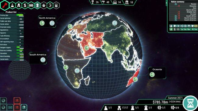 Become an immortal megacorp CEO in Spinnortality