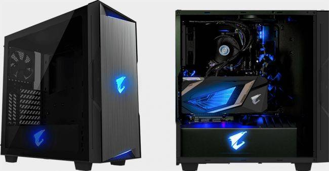 This brushed metal case shows off your graphics card behind a glass panel
