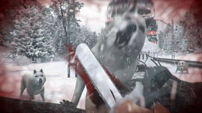 Chainsaw wolves to death in this upcoming... train simulator?
