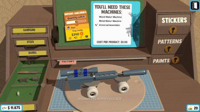 Peter Molyneux's new management sim lets you stick a gun on a skateboard and sell it