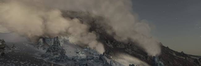 Star Citizen previews NPC collision detection, geysers, and shiny spaceship VFX