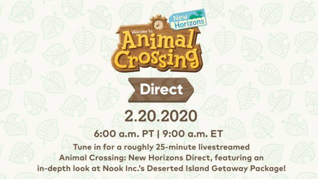 Animal Crossing: New Horizons Direct Set For This Week