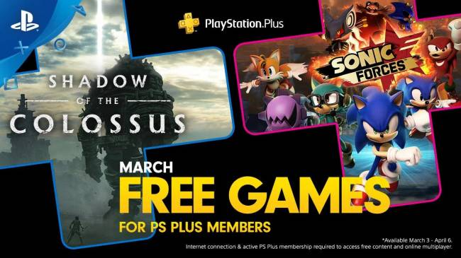 Free PS Plus March Games Announced