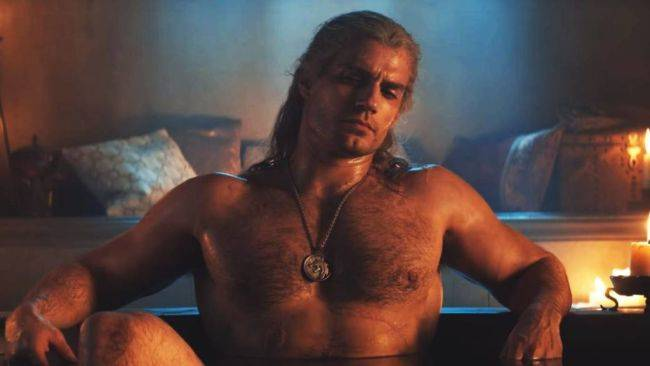 The Witcher's Henry Cavill discusses the 'iconic' bath scene