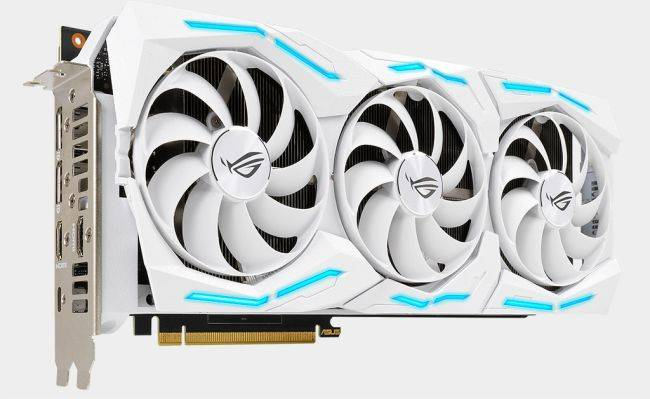 This white edition GeForce RTX 2080 Super should come with dust filters