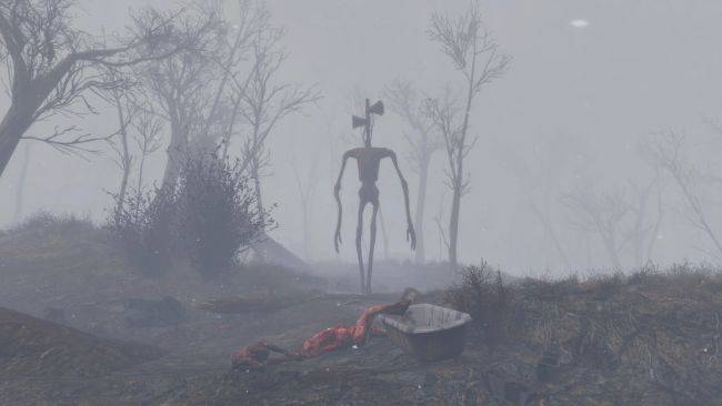 Get chased by Sirenhead in this creepy Fallout 4 mod
