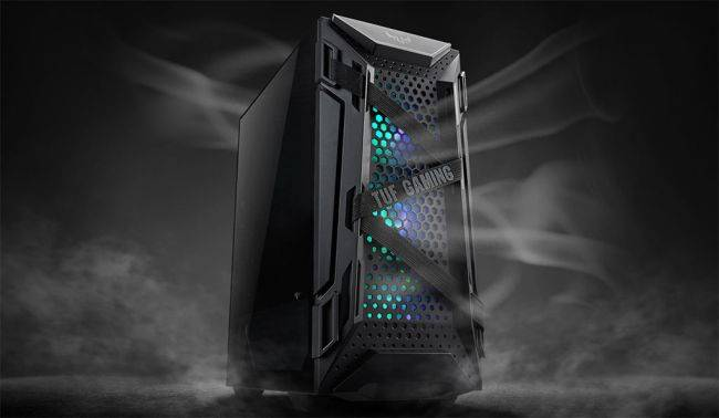 This rugged looking case from Asus is literally strapped for some reason