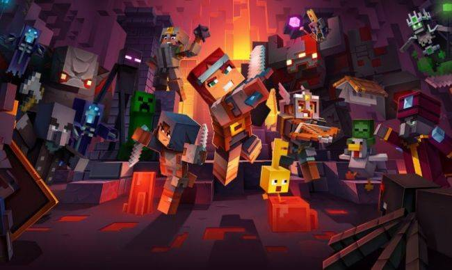 New Minecraft Dungeons video is all about the blocky environments