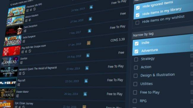 Steam's search function just got a whole lot better
