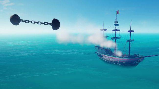 Sea of Thieves chain shot cannonballs will mess up your masts in March