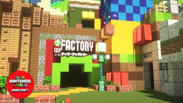 Super Nintendo World is coming to Minecraft