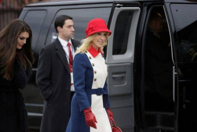 Kellyanne Conway is dressed like a bad Assassin's Creed character.