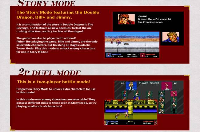 Double Dragon IV will have three modes, playable boss characters