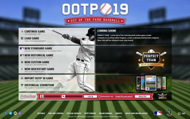 Out Of The Park Baseball 19 Announced With New Online Mode