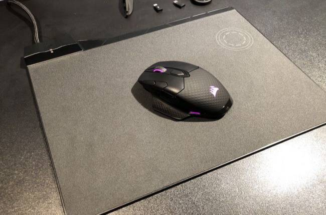 Corsair shows off wireless keyboard, mouse, and a mousepad that charged my phone